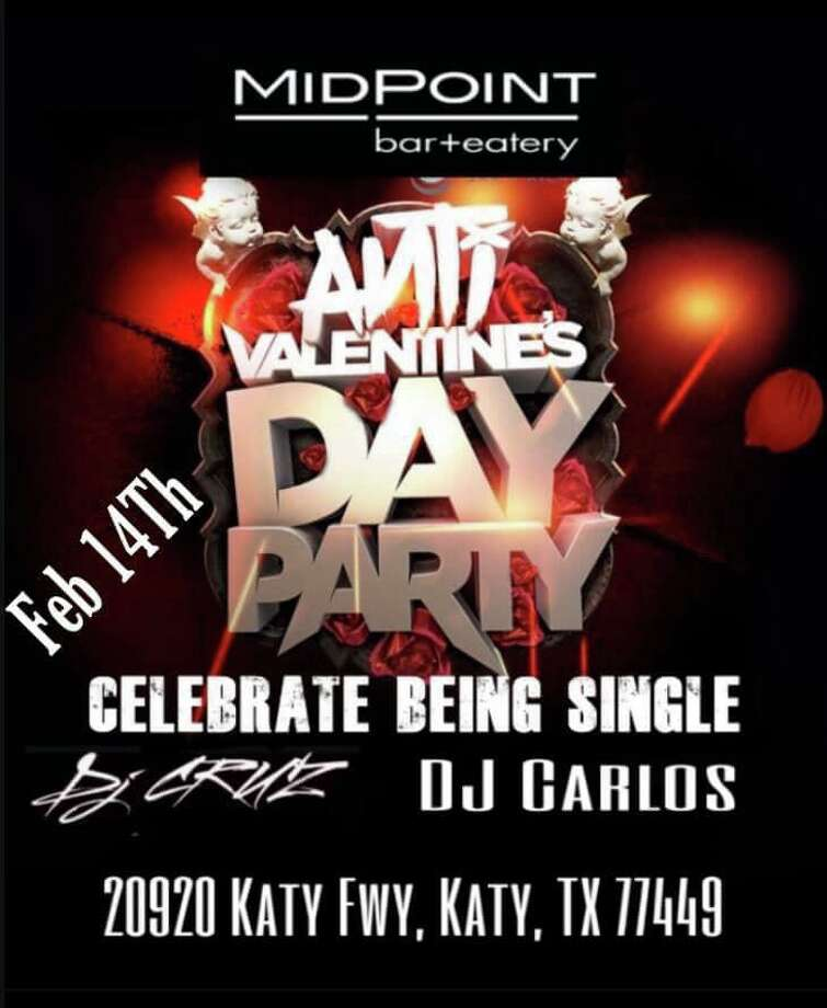 """Anti-Valentines Day Party at Midpoint bar + eatery DJ Cruz will be playing his best anti-love jams at Midpoint's Anti-Valentine's Day Party. Cruz asks, """"Why be sad on this 'Basic Day' of Feb. 14 when you can come party with me?"""" The Anti-Valentines Day Party is from 2 p.m.- 2 a.m. at 20920 Katy Fwy. Photo: Courtesy Of Midpoint Bar + Eatery"""