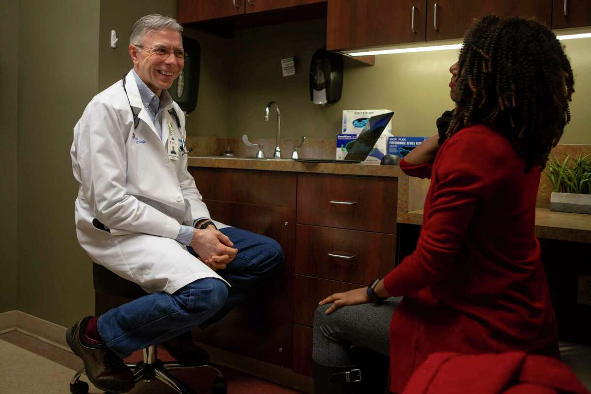 Dr. Roger Moczygemba sees patient Antrea Ferguson at Direct Med Clinic in San Antonio. Moczygemba is also founder of the San Antonio Free Market Medical Association.