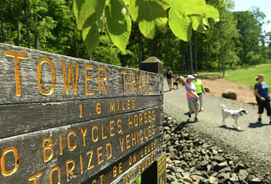 The popular Tower Trail at the recently re-opened Sleeping Giant State Park in Hamden on Sunday, June 23, 2019. Photo: Brian A. Pounds / Hearst Connecticut Media / Connecticut Post