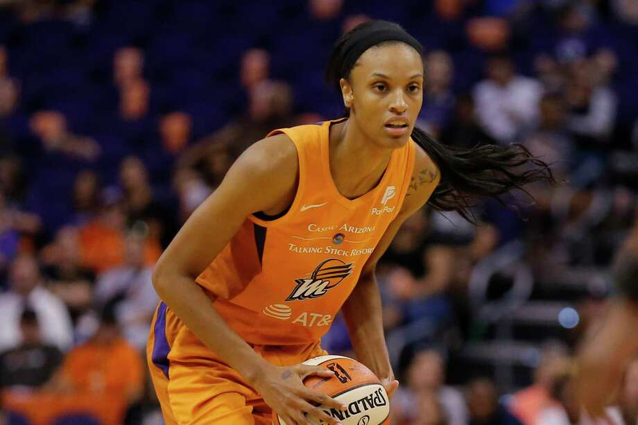 In this Aug. 16, 2019, file photo, Phoenix Mercury forward DeWanna Bonner (24) looks to pass during a WNBA basketball game against the Atlanta Dream in Phoenix. The Mercury traded Bonner to the Connecticut Sun on Tuesday, Feb. 11, 2020, for three first-round draft picks Tuesday. Photo: Rick Scuteri / Associated Press / Copyright 2019 The Associated Press. All rights reserved.