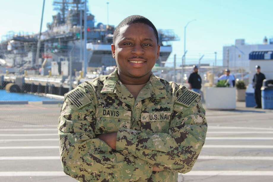 Petty Officer 1st Class Brackshear Davis, a native of Houston, serves in San Diego as a member of the U.S. Navy. Davis works with USS Lake Champlain as a gunner's mate. Photo: Courtesy Of U.S. Navy