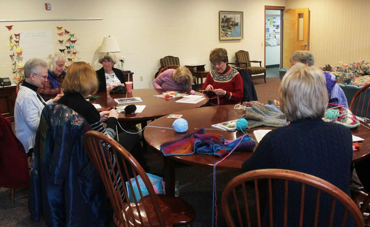 Several local women gathered at the United Church of Big Rapids for another weekly workshop hosted by Knitters Anonymous as part of the annual Festival of the Arts. This week, attendees learned about creating short rows.