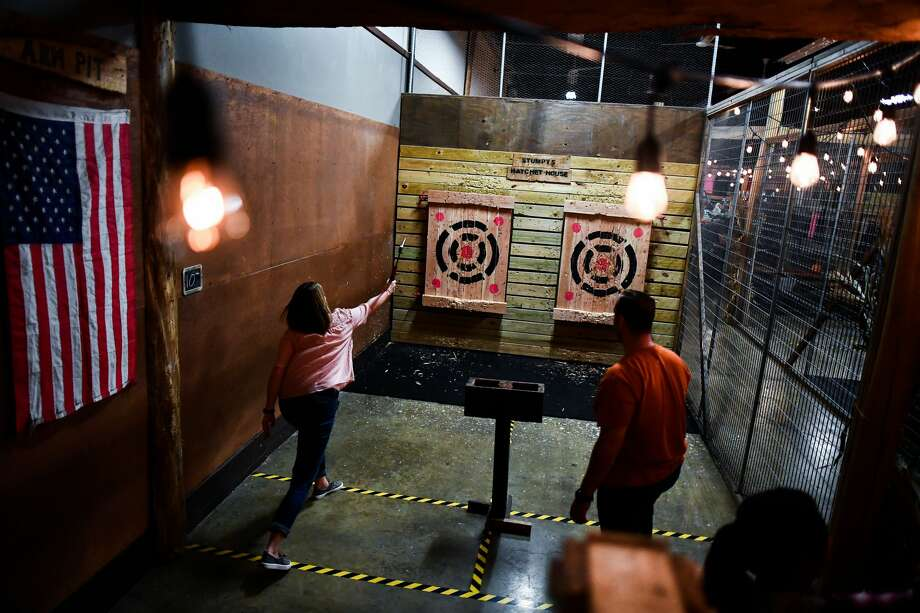 How's axe throwing for an adventurous night out? Read on for the details, or keep clicking for Valentine's Day dinner ideas you can nab for this weekend. Photo: AFP Contributor / Contributor / Getty Images