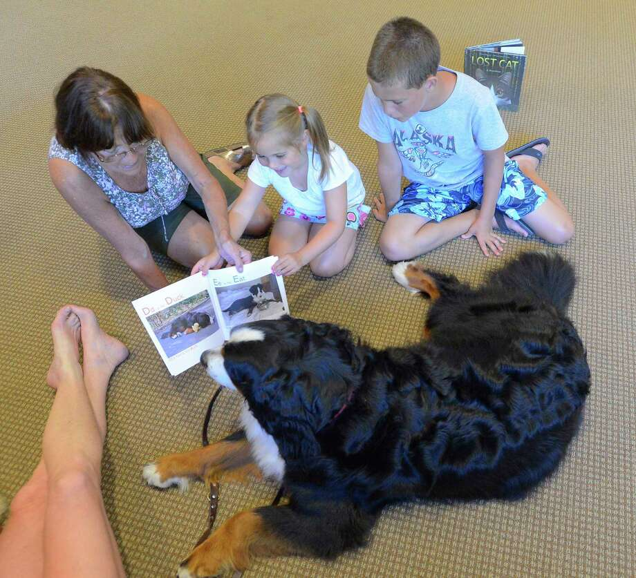 On Wednesday afternoon, the Byram Shubert Library will host Read to a Dog, when kids ages 5 to 12 can practice their reading to a friendly dog and its owner. Photo: File / Matthew Brown / Hearst Connecticut Media / Stamford Advocate