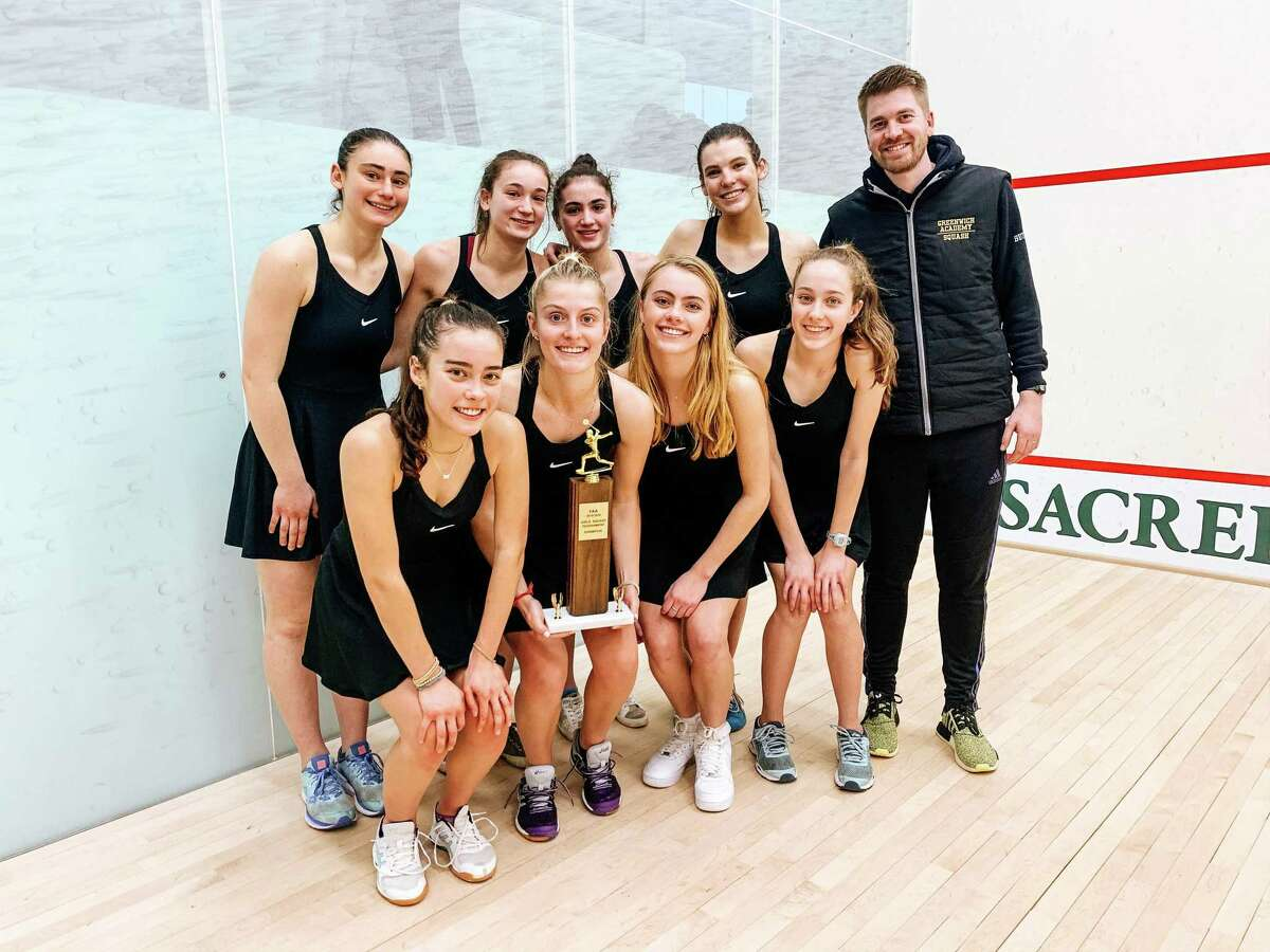 The Greenwich Academy squash team won the title at the FAA Championships on Monday, Feb. 10, 2020, at Sacred Heart Greenwich in Greenwich, Connecticut.