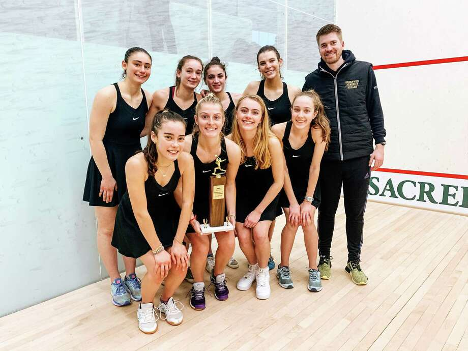 The Greenwich Academy squash team won the title at the FAA Championships on Monday, Feb. 10, 2020, at Sacred Heart Greenwich in Greenwich, Connecticut. Photo: Contributed Photo