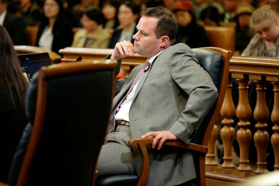 Supervisor Matt Haney during a board meeting on Tuesday, June 4, 2019, in San Francisco, Calif. The Board of Supervisors voted to shut down juvenile hall by the end of 2021. Photo: Santiago Mejia / The Chronicle