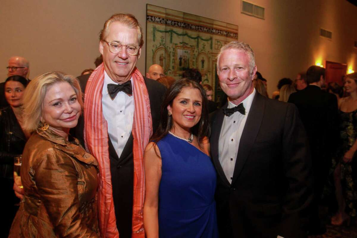 Mimi and Robert Del Grande, from left, with Neda Zafaranian and Gary Miller at the Inprint Poets & Writers Ball on February 8, 2020 in Houston at The Houstonian.