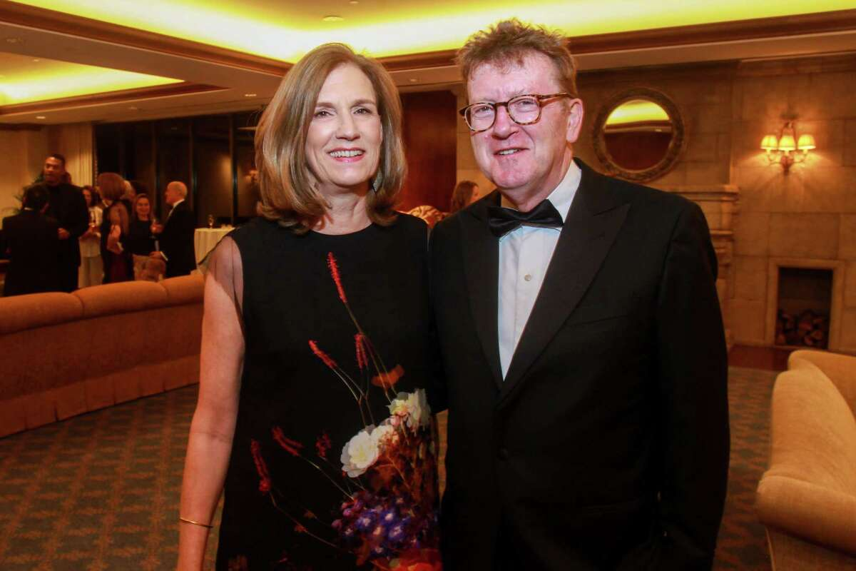Chairs Anne Whitlock and Michael Skelley at the Inprint Poets & Writers Ball on February 8, 2020 in Houston at The Houstonian.