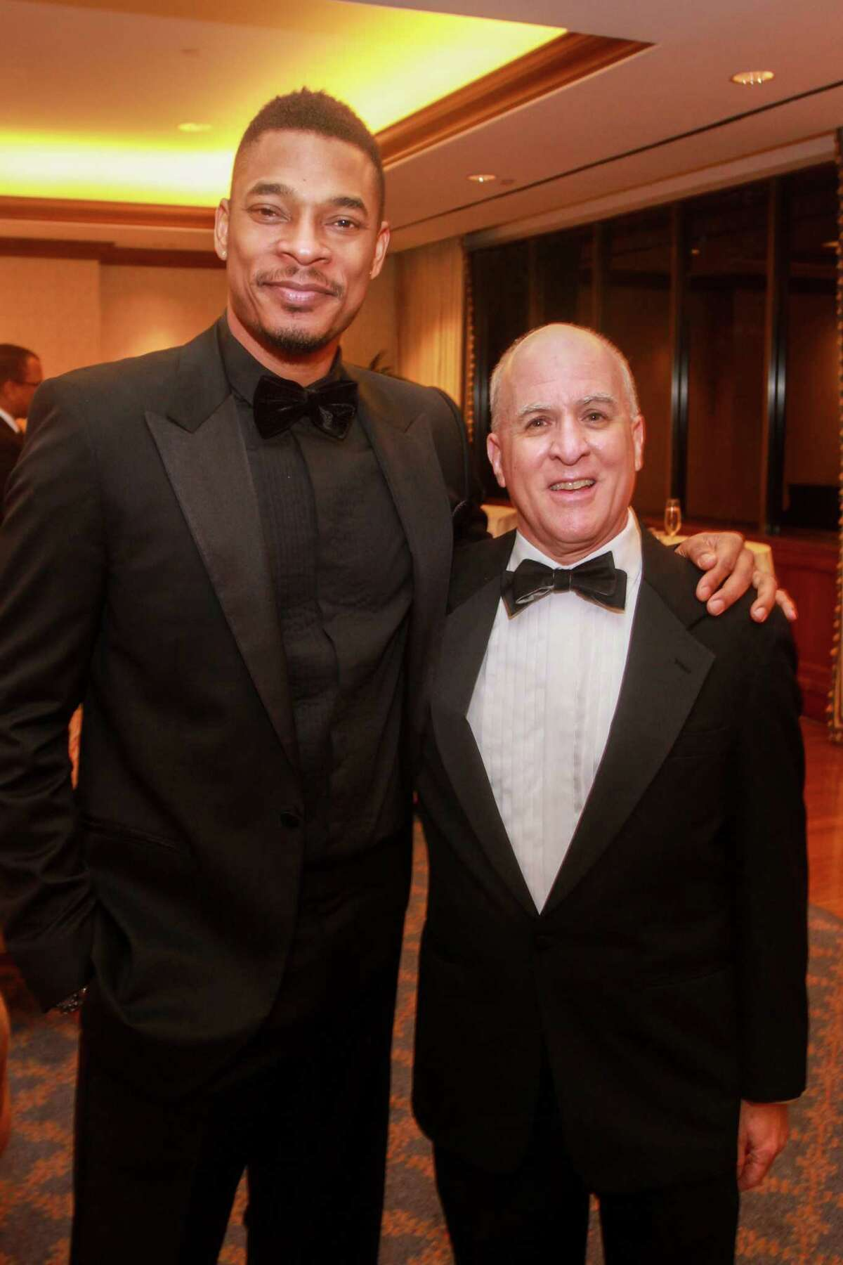 Terrance Hayes, left, and Rich Levy at the Inprint Poets & Writers Ball on February 8, 2020 in Houston at The Houstonian.