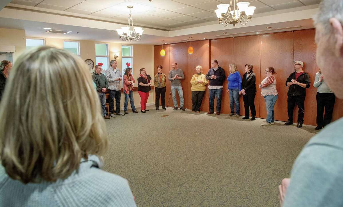 Sea Tea Comedy Improv Performers held a workshop to help caregivers communicate better with their loved ones with dementia on Saturday, Feb. 8, 2020 at Wesley Village in Shelton, Conn.