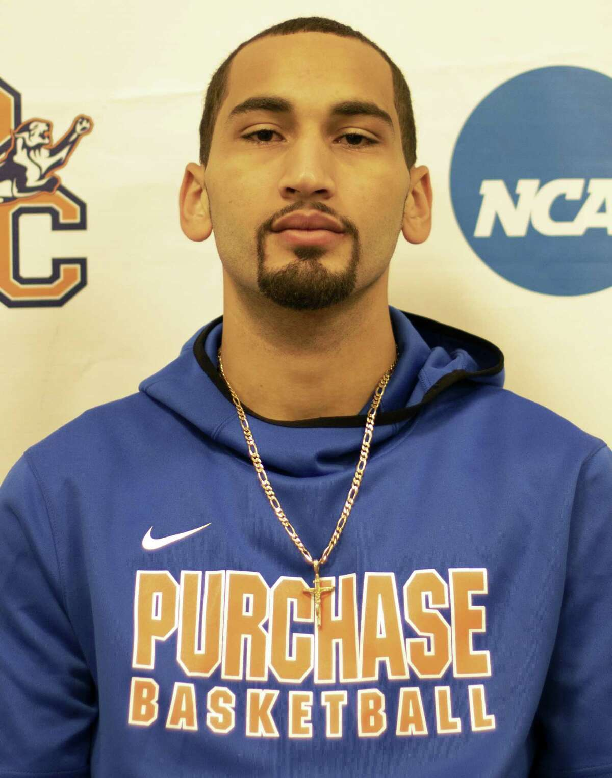 Elijah Lott, a 6-foot-3 guard from Columbia High, leads Purchase College in scoring (21.2), rebounding (9.2), assists (115) and steals (47). (Purchase College)