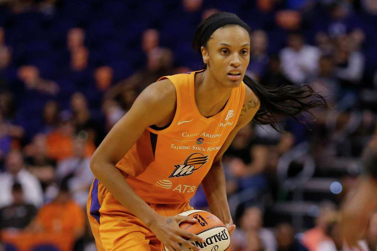 Phoenix Mercury forward DeWanna Bonner looks to pass during a WNBA game against the Atlanta Dream in Phoenix in August. The Mercury traded Bonner to the Connecticut Sun in February.