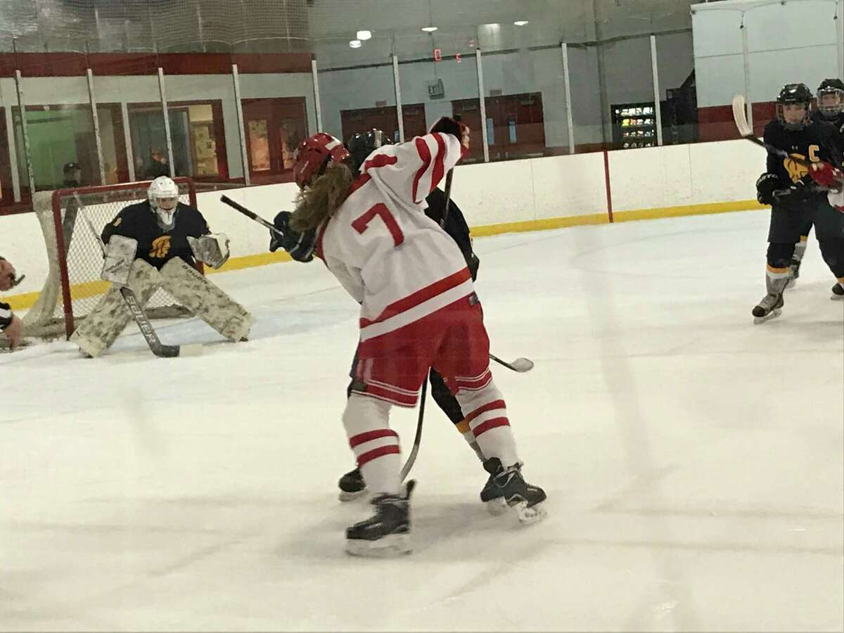 The Greenwich girls hockey team lost to Simsbury, 1-0, on Tuesday, February 11, 2020, in Greenwich.
