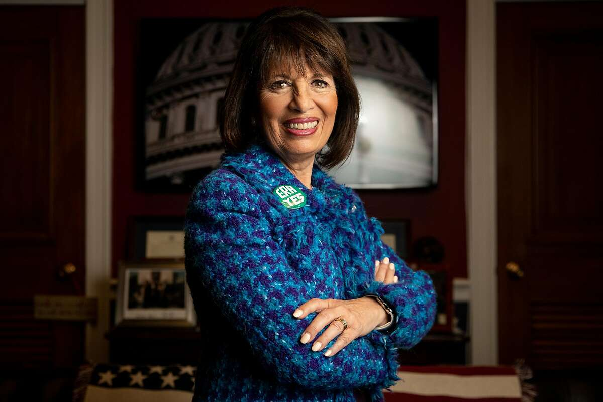 Rep. Jackie Speier, a Democrat representing California's 14th congressional district, poses for a portrait in her Washington, D.C. office on Tuesday, February 11, 2020.