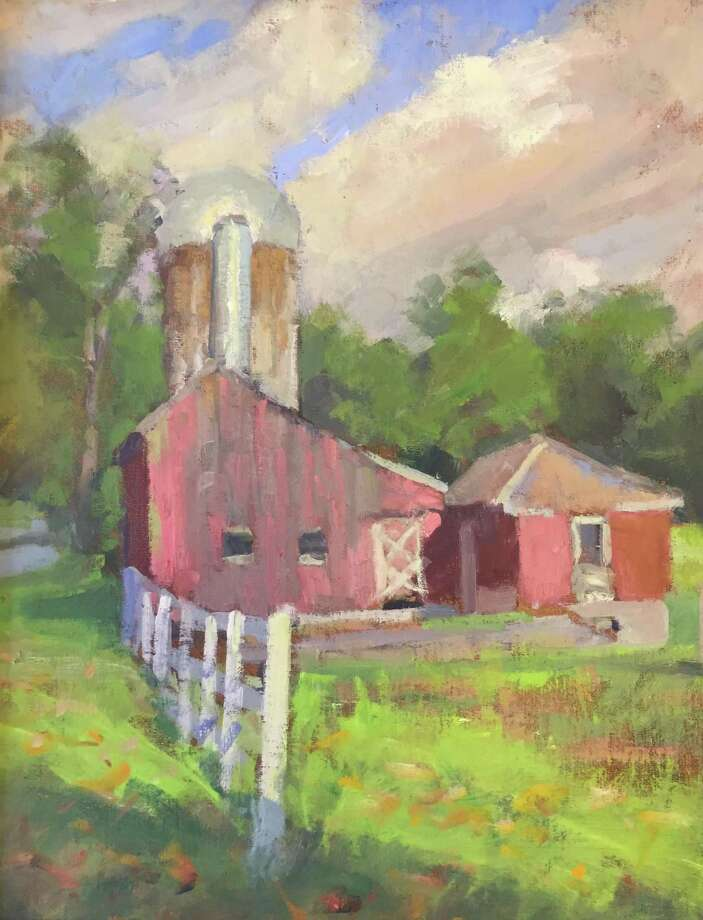 "Kent Memorial Library is exhibiting ""People, Places and Things,"" featruing works by Gaylordsville artist Susan Grisell ,at the library on Main Street. Above is Grisell's oil on canvas ""Barn in South Kent."" Photo: Courtesy Of Kent Memorial Library / The News-Times Contributed"