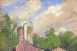 """Kent Memorial Library is exhibiting """"People, Places and Things,"""" featruing works by Gaylordsville artist Susan Grisell ,at the library on Main Street. Above is Grisell's oil on canvas """"Barn in South Kent."""""""
