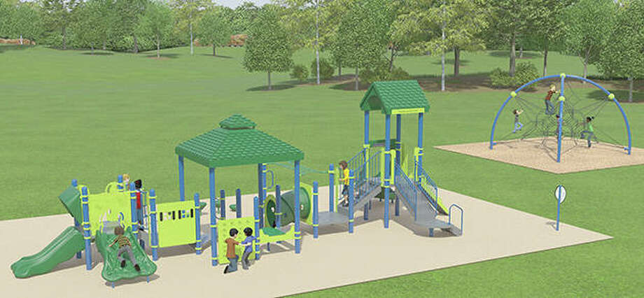 An artist's rendering shows the design for Minnie Barr Park. Photo: Illustration Provided