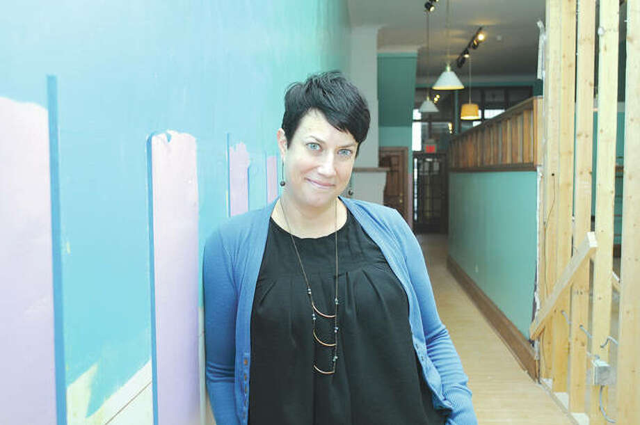 Holly Stewart, owner and operator of Holly Cakes, stands inside her new shop at 23 S. Central Park Plaza. Stewart is anticipating a March 1 soft opening. Photo: Darren Iozia | Journal-Courier