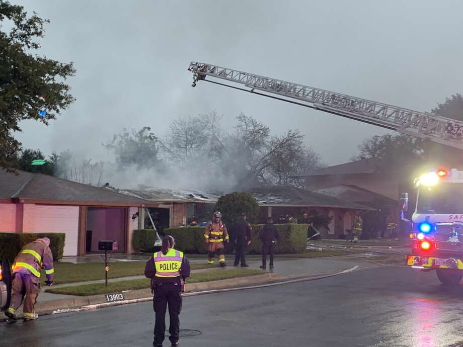 One person is dead after a gas leak potentially sparked a house fire on the Northeast Side early Wednesday morning. Photo: Taylor Pettaway