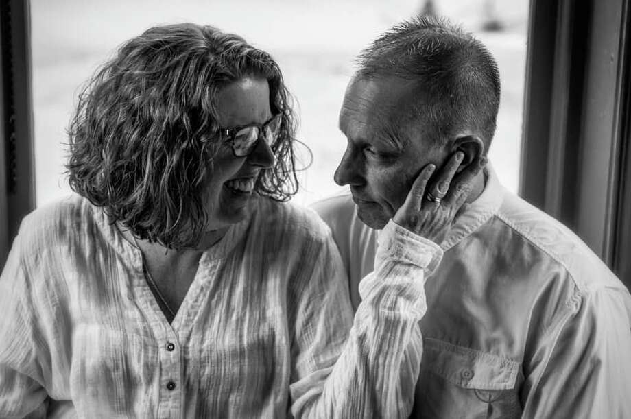 """""""Together since 1989, married since 1993... still in love... deeper every day! Mark and Jennifer."""" Photo submitted by Jennifer Skory Cameron Photo: Courtesy Photo"""