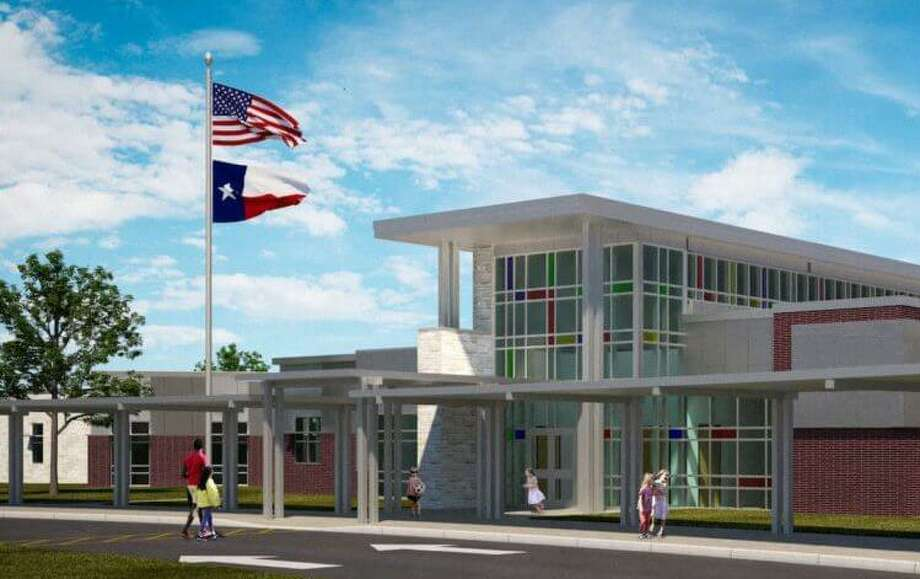 A rendering shows the entrance of Fox Elementary, Klein ISD's new school that will open fall 2020 at 4800 Port Aegean Drive, Klein. Photo: Provided By Klein ISD