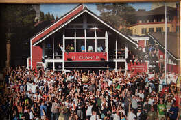 Located in Squaw Valley, Lake Tahoe, Le Chamois has served as a popular watering hole for skiiers, snowboarders and locals alike.