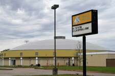 Nederland residents will get a chance to vote on two school bonds in May. The first is a $151.6 million plan that will be spent on elementary schools, middle schools, the high school and the football stadium. The second is a $4.5 million plan to renovate the stadium. Pictured is Nederland High School on Friday. Photo taken Friday, 3/15/19