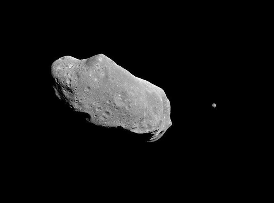 An illustration of a binary asteroid system. Photo: NASA/JPL