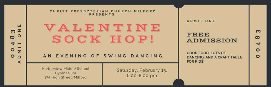 Christ Presbyterian Church, Milford is hosting a Sock Hop on Saturday, Feb. 15, from 6-8 p.m., in the gym at Harborside Middle School. Photo: Contributed Photo