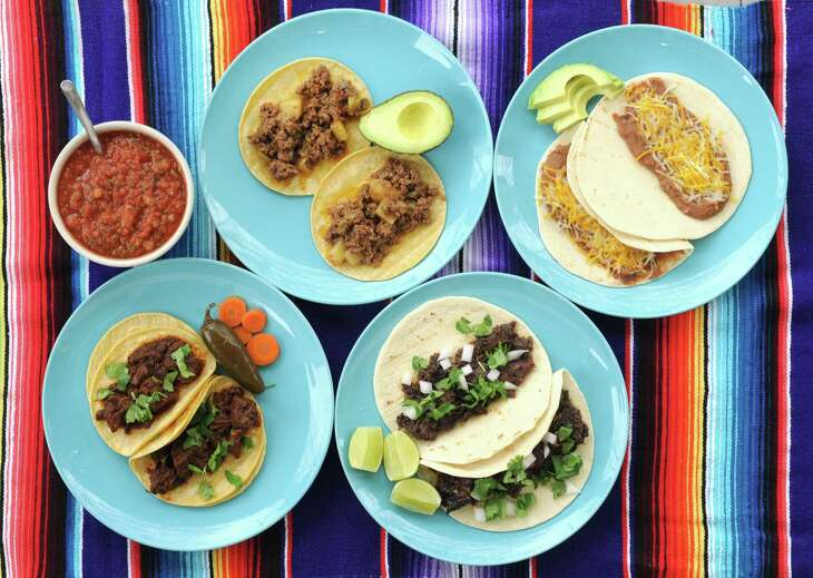 We've adapted four favorite San Antonio breakfast tacos — carne guisada, barbacoa, bean and cheese and picadillo — to the Instant Pot.