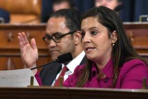 Rep. Elise Stefanik, R-N.Y., questions former U.S. Ambassador to Ukraine Marie Yovanovitch testifies before the House Intelligence Committee on Capitol Hill in Washington, Friday, Nov. 15, 2019, in the second public impeachment hearing of President Donald Trump's efforts to tie U.S. aid for Ukraine to investigations of his political opponents. (AP Photo/Susan Walsh)