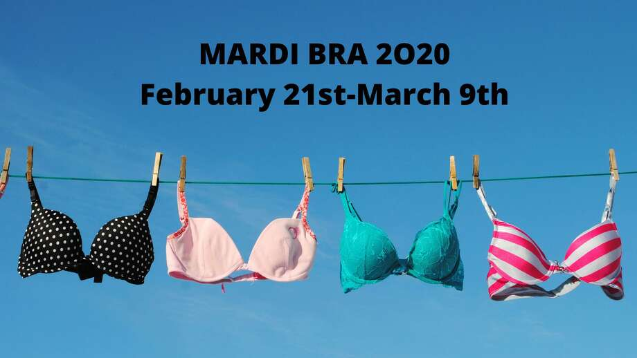 "The Undies Project will hold its 5th annual bra drive, Mardi ""Bra,"" in towns like New Canaan to coincide with Mardi Gras festivities. Photo: Contributed Photo"