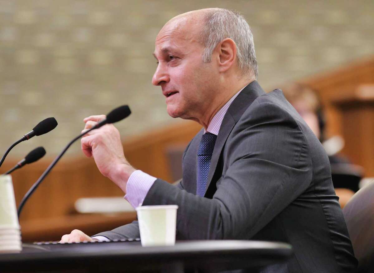 New York State Office of Court Administration, Chief Administrative Judge Lawrence Marks testifies before a New York State Legislature joint budget hearing on public protection on Wednesday, Feb. 12, 2020, in Albany, N.Y. (Paul Buckowski/Times Union)