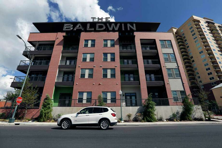 "The Baldwin at St. Paul Square, with 271 apartments, was billed as ""workforce housing,"" but its rents generally are too high for the neighborhood. Photo: William Luther / © 2018 San Antonio Express-News"
