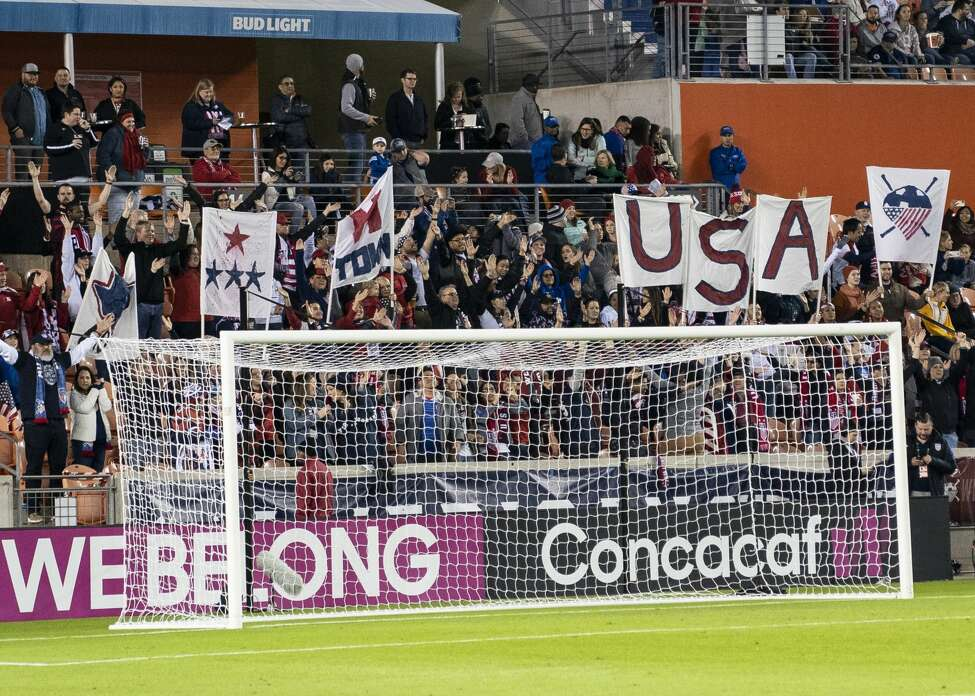 USA fans prior to the match during a game between Panama and USWNT at BBVA Stadium on January 31, 2020 in Houston, Texas.
