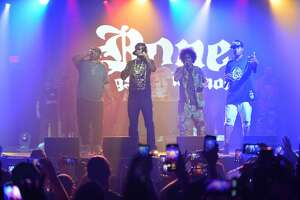 "FORT LAUDERDALE, FL - SEPTEMBER 28: Charles C. ""Wish Bone"" Scruggs, Anthony ""Krayzie Bone"" Henderson, Steven ""Layzie Bone"" Howse and Stanley ""Flesh-n-Bone"" Howse of Bone Thugs-n-Harmony in concert at Revolution Live on September 28, 2019 in Fort Lauderdale, Florida. (Photo by Johnny Louis/Getty Images)"