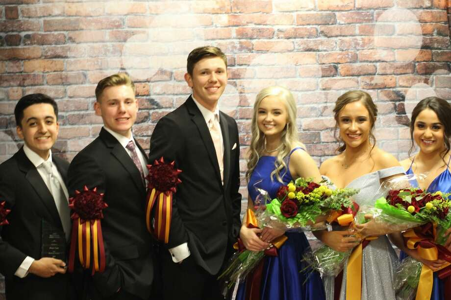 This year's Deer Park High School Majestic Court winners are Omar Cano, left, Jaxon Savage, Tanner Haltom, Breanna Eliassen, Brenna Kremer and Saranda Adame. Photo: Avery Schneider Photo
