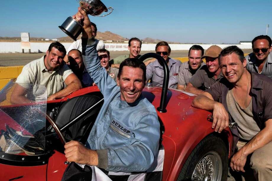 "This image released by 20th Century fox shows Christian Bale in a scene from ""Ford v. Ferrari,"" in theaters on Nov. 15. (Merrick Morton/20th Century Fox via AP) Photo: Merrick Morton, HONS / Associated Press / 20th Century Fox"
