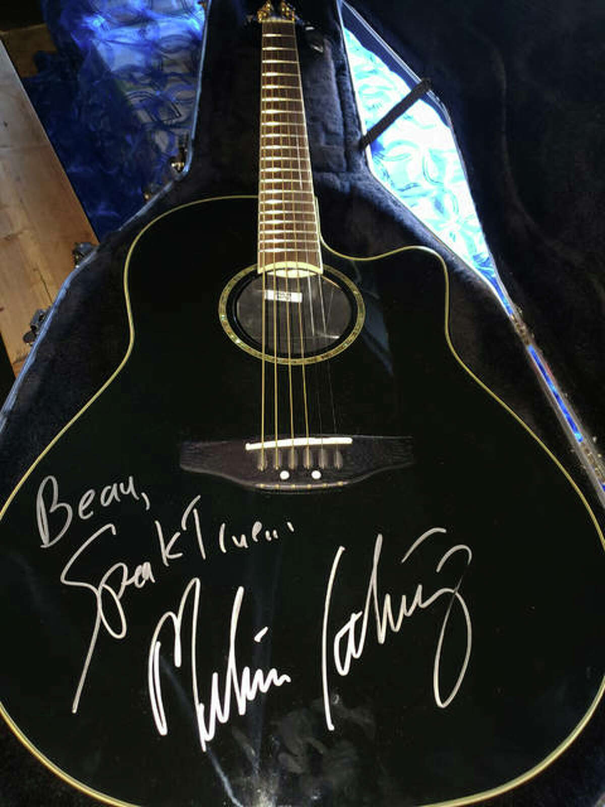 An electric guitar signed by Melissa Etheridge will be raffled off on Oct. 3 as part of the Alton Pride Fall Festival. Planning continues for the inaugural event scheduled at the Liberty Bank Amphitheater.