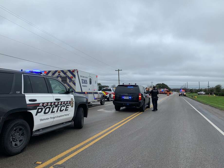Authorities respond to an industrial accident on FM 2218 on Wednesday, Feb. 12, 2020. Photo: Rosenberg Police Department