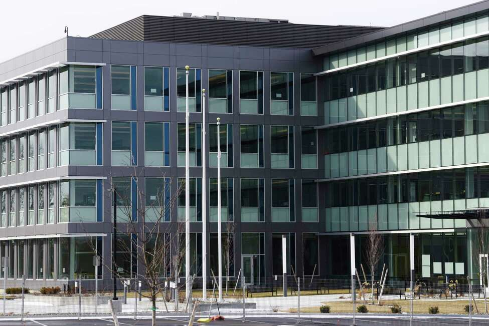 A view of the Ayco office headquarters still under construction, seen here on Wednesday, Feb. 12, 2020, in Latham, N.Y. (Paul Buckowski/Times Union)