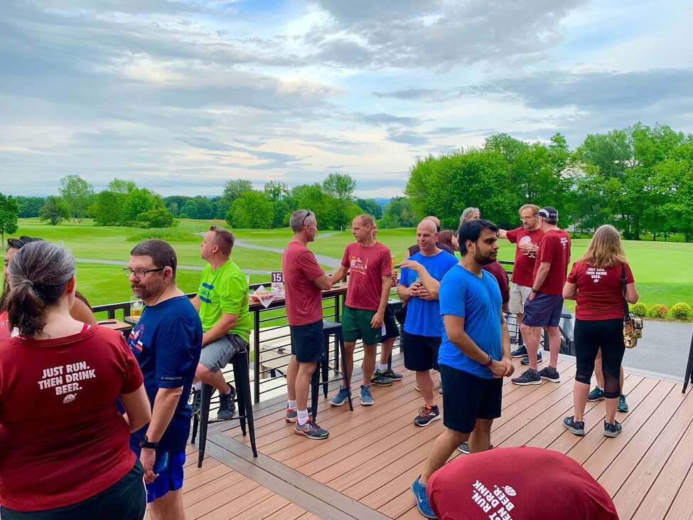 The Clifton Park Beer Runners meet at the Hank Hudson Brewing Co. (Courtesy of Beer Runners Clifton Park Facebook Page)