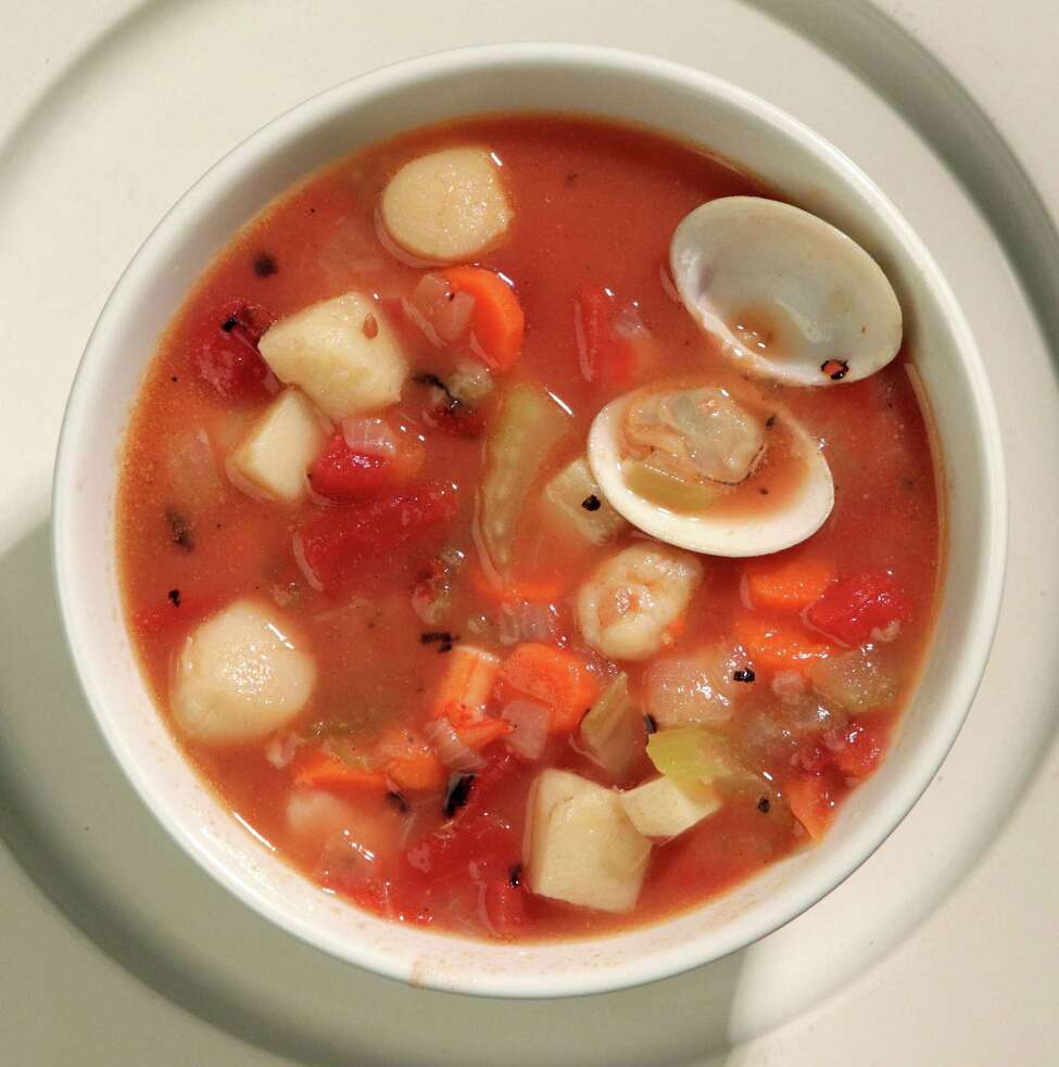 Hearty Shellfish soup. (Hillary Levin/St. Louis Post-Dispatch/TNS)