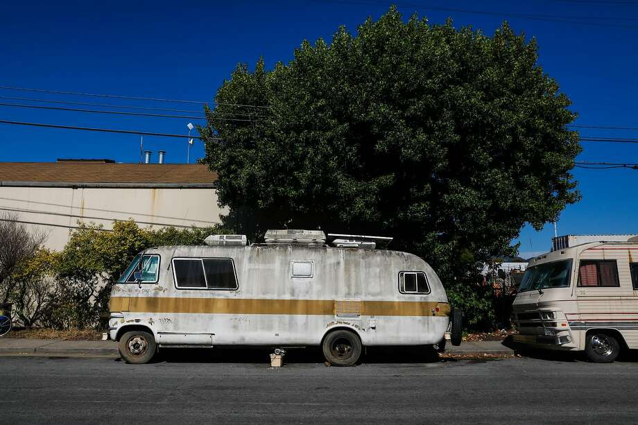 RV's are parked on Eighth Street in Berkeley, California, on Tuesday, July 23, 2019. Photo: Gabrielle Lurie / The Chronicle