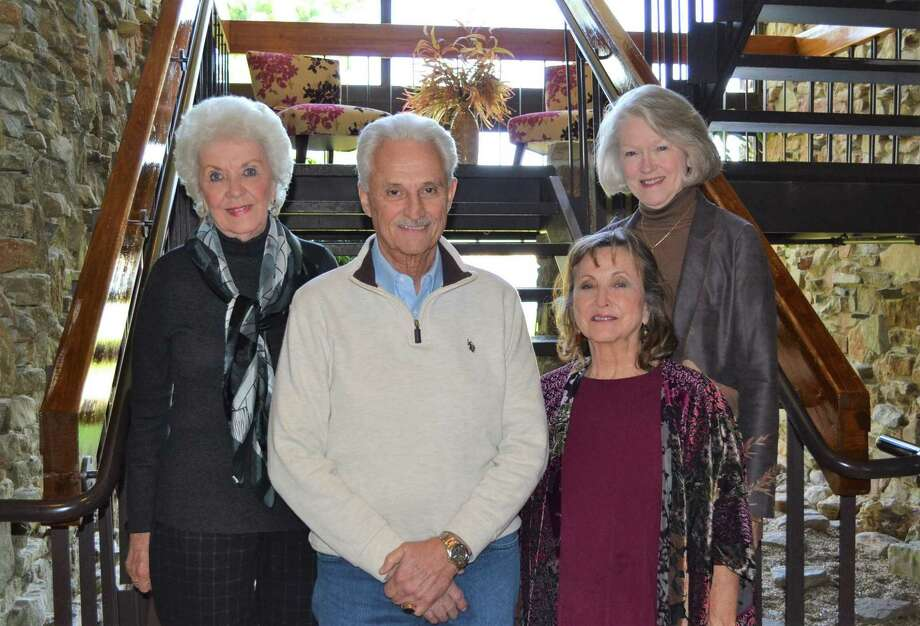 Leaders of the Walden Follies dinner-show include, left to right: Fran Copland, technical director; Peter Livingston, show director; Mary Nell Bryant, assistant show director: Karla Seidule, technical director. Evening performances are March 5, 6, 7 in Walden Yacht Club on Lake Conroe. Photo: Courtesy Photo