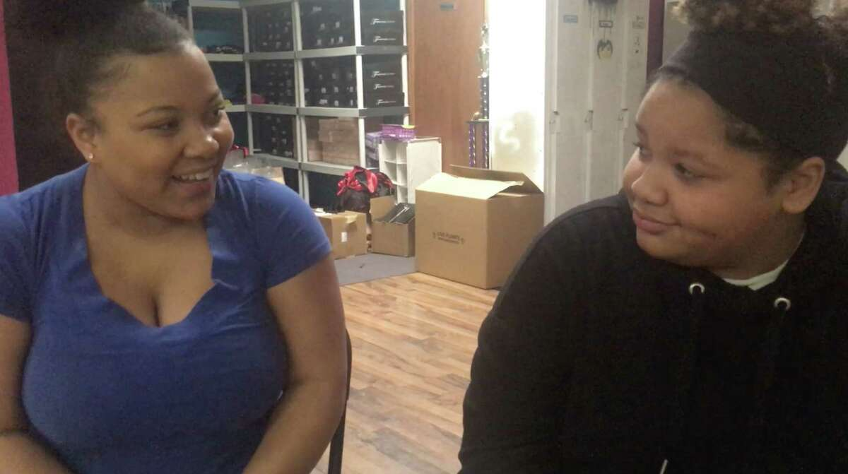 Taveonna Ridley, left, and Hannah Wisdom co-star in the world premiere of