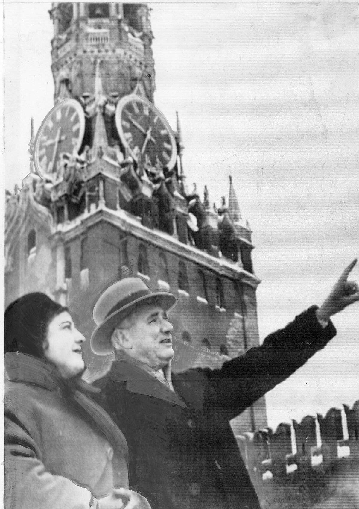 Mayor George Christopher in Moscow during his trip to Soviet Union February 26, 1960 Photo ran 02/27/1960