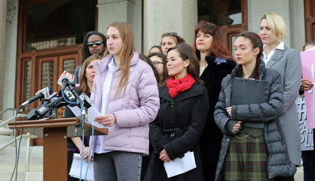 Chelsea Mitchell, a senior at Canton High School, was one of three athletes who have filed a federal lawsuit Wednesday, challenging a Connecticut Interscholastic Athletic Conference policy that allows transgender students to participate in female sports.