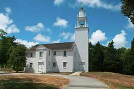 """""""The historic (1717) West Parish Meetinghouse in West Barnstable, Massachusetts (Cape Cod)"""""""